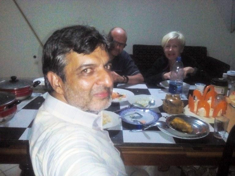 Stephan n Renata-Nyiragongo at Ali Vazir residence Dinner 16Feb2017